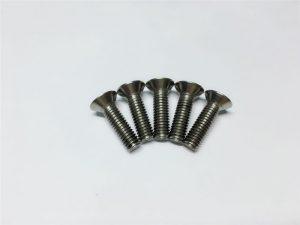 M3, M6 titanskruv med flänsskruvar av titanfläns med huvudskruv för ryggkirurgi