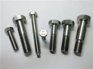 No.25-Incoloy a286 hexbultar 1.4980 a286 fästelement gh2132 rostfritt stål hårdvara maskin skruv fixering