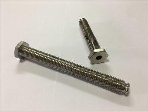 No.64-Hollow Titanium Fastener with Through Hole Titanium legering 6Al4V Dish Head Allen Key