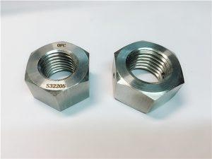 No.76 Duplex 2205 F53 1.4410 S32750 rostfritt stål fästelement tung sexkantmutter