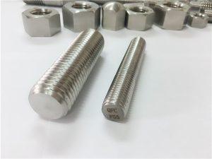 No.81-F55 Zeron100 fästelement av rostfritt stål med full gängad stång S32760