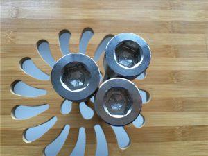 högkvalitativ ASEM sexkantsuttag titanium gr2 skruv / bult / mutter / bricka /