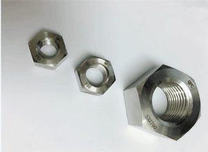 Duplex 2205 / F55 / 1.4501 / S32760 fästelement i rostfritt stål tung sexkantmutter M20