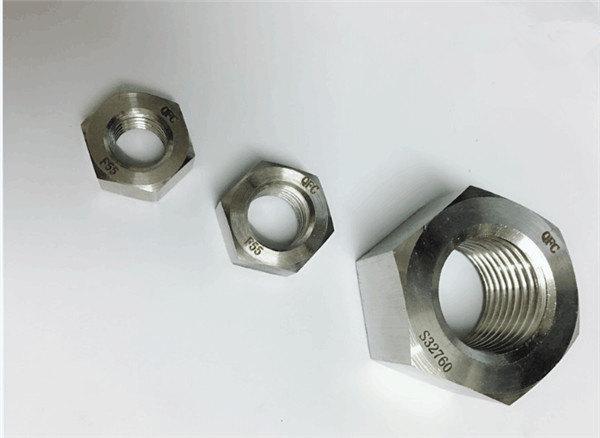 duplex 2205 / f55 / 1.4501 / s32760 fästelement i rostfritt stål tung sexkantsmutter m20